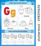 alphabet learning letters  ... | Shutterstock . vector #698354656