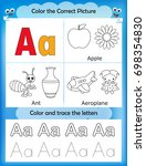 alphabet learning letters  ... | Shutterstock . vector #698354830