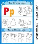 alphabet learning letters  ... | Shutterstock . vector #698354854