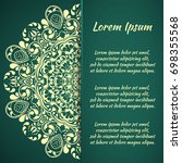 seamless floral pattern motif...   Shutterstock .eps vector #698355568