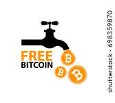 free tap of  bitcoin digital... | Shutterstock .eps vector #698359870