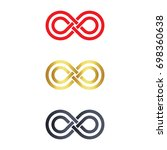 infinity logo set. vector... | Shutterstock .eps vector #698360638