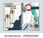 skin care brochure template ... | Shutterstock .eps vector #698365684