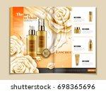 skin care brochure template ... | Shutterstock .eps vector #698365696