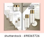 skin care brochure template ... | Shutterstock .eps vector #698365726