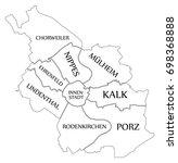 modern map   cologne city of... | Shutterstock .eps vector #698368888
