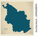 modern map   cologne city of... | Shutterstock .eps vector #698368894