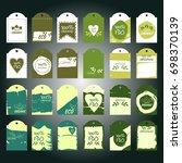 set of green vector... | Shutterstock .eps vector #698370139