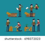 furniture assembly help vector... | Shutterstock .eps vector #698372023