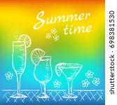 illustration of tropical exotic ... | Shutterstock .eps vector #698381530