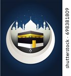 kaaba or mecca isolated | Shutterstock .eps vector #698381809