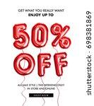 50 percent  off discount... | Shutterstock . vector #698381869
