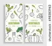 vegetarian menu template. farm... | Shutterstock . vector #698383963