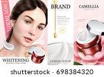 whitening moisture ads ... | Shutterstock .eps vector #698384320