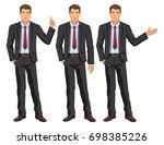 man in business suit with tie.... | Shutterstock . vector #698385226