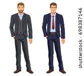 two men. man in business suit.... | Shutterstock . vector #698387146