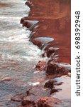 river cascade vertical water... | Shutterstock . vector #698392948