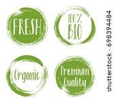 vector organic labels  bio...   Shutterstock .eps vector #698394484