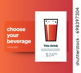 choose your beverage ui design...