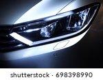 car headlight | Shutterstock . vector #698398990