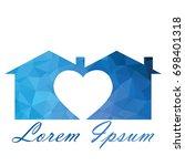 home vector logo.   Shutterstock .eps vector #698401318