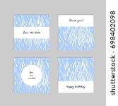 set of artistic universal cards....   Shutterstock .eps vector #698402098