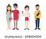 young people vector illustration | Shutterstock .eps vector #698404504