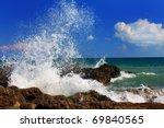 Ocean Wave Breaking On The Sea...