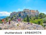 athens  greece   june 12  2017  ... | Shutterstock . vector #698409574