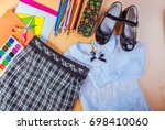 school clothes for girls ... | Shutterstock . vector #698410060