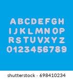 white balloon 3d alphabet | Shutterstock . vector #698410234