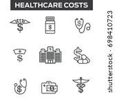 healthcare costs   expenses... | Shutterstock .eps vector #698410723