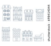 buildings and houses in... | Shutterstock .eps vector #698414044