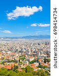 view of athens  greece as seen... | Shutterstock . vector #698414734