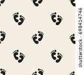 seamless monochrome baby... | Shutterstock .eps vector #698414746