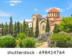 view of orthodox church in... | Shutterstock . vector #698414764