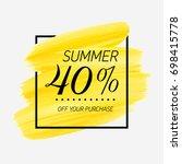 summer sale 40  off sign over... | Shutterstock .eps vector #698415778