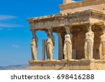 architectural detail of the... | Shutterstock . vector #698416288