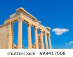 architectural detail of the... | Shutterstock . vector #698417008