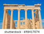 architectural detail of the... | Shutterstock . vector #698417074