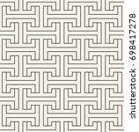 vector seamless pattern. modern ... | Shutterstock .eps vector #698417278
