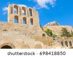architectural detail of odeon... | Shutterstock . vector #698418850