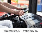 bus or coach driver | Shutterstock . vector #698423746