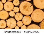 wood pile | Shutterstock . vector #698423923