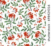 seamless white pattern with...   Shutterstock . vector #698424316