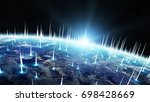 global network and datas... | Shutterstock . vector #698428669