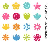 flower icon collection in flat... | Shutterstock .eps vector #698435554