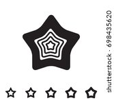 star icons isolated on white... | Shutterstock .eps vector #698435620
