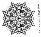 mandala. black and white... | Shutterstock .eps vector #698439070