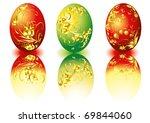 easter egg 5   Shutterstock .eps vector #69844060